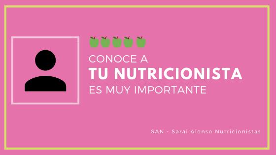 ¿Cómo trabaja tu nutricionista?