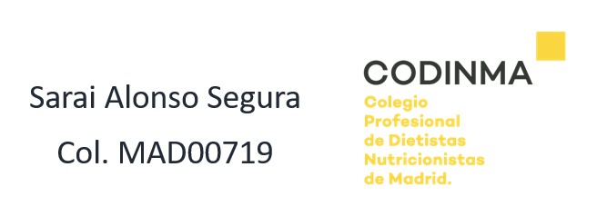 Nutricionista profesional en Madrid - colegiada Codinma