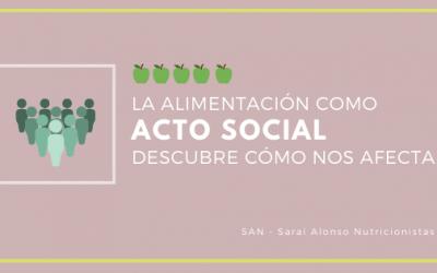 Alimentación como acto social