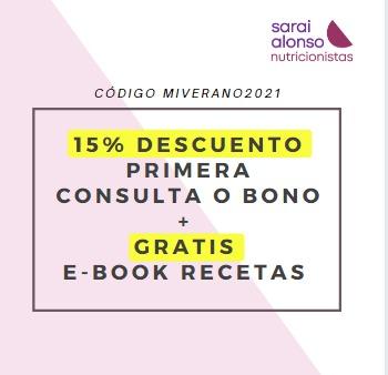 Promocion Sarai Alonso nutricionista online